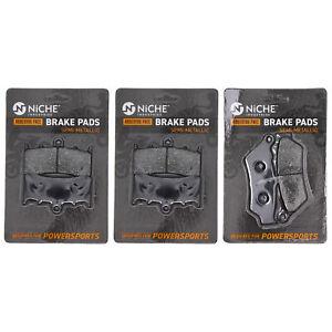 Brake Pad Set for BMW K1600GTL 34117728945 34218534821 Complete Semi-Metallic