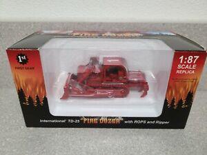 International IH TD-25 Dozer - Fire Dozer - First Gear 1:87 Scale #80-0307 New!