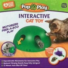 Automatic Pop N'Play Interactive Motion Cat Toy Mouse Tease Electronic Pet Toys