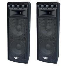 """NEW 1600w Dual 12"""" DJ Speakers PAIR(2).Karaoke.Twelve inch.PA.Live.Tops. System."""