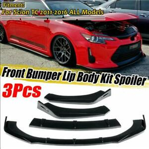 Gloss Black Front Bumper Lip Spoiler Splitter Body Kit For Scion TC 2011-2016