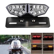 Motorcycle Turn Signal Brake License Plate Integrated Tail LED Light Universal