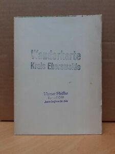 DDR-Wanderkarte Kreis Eberswalde, VEB Landkartenverlag 1956
