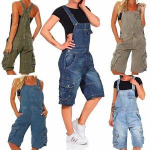 Jet Lag Damen Overall Shorts Damenshorts Latzhose Latzshorts Latz Hose Einteiler