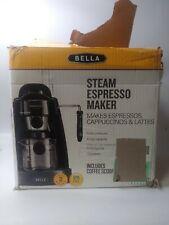 BELLA (13683) Personal Espresso Maker bk Built-in Steam Wand open box