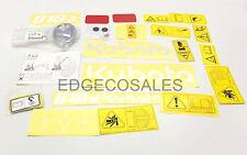 """Kubota """"U10-3 Series"""" Excavator Label Kit # RA13857200 #"""