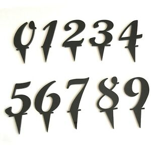 Number Cake & Cupcake Toppers, Many Colours & Sizes, script Font