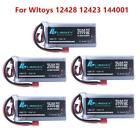 1Pcs Upgraded  7.4v 3500mah Lipo Battery 60c For Wltoys 144001 feiyue 03 Q39