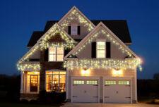 Christmas Xmas Icicle Lights White Blue&White Snowing LED 960/720/480/360/1200