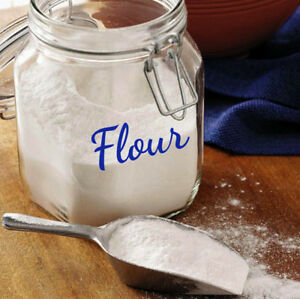Custom Pantry Sticker Label Decal Kitchen Home Flour Sugar Salt Pasta Coffee
