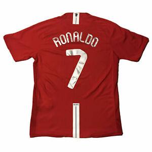 MANCHESTER UNITED RONALDO #7 2008 CHAMPIONS LEAGUE FINAL Jersey CR7 SHORT SLEEVE