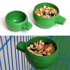 Plastic Convenient Food Bowl Cage Aviary Feeder Pet Feeding Bowls Birds Supplies
