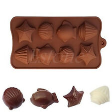 8 - Shell Fish Silicone Ice Cube Chocolate Cake Cookie Cupcake Soap Molds Mould