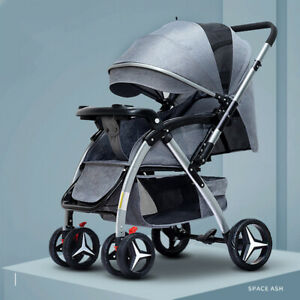 Baby Stroller Luxury Carriages For Newborn Baby Can Sit Reclining Two-way light
