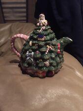 Spode Christmas Tree Shaped Tea Pot NIB