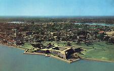 postcard USA   Florida St Augustine  aerial view of Castillo de San Marcos