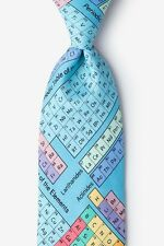 Men's Light Blue Elements on Periodic Table Chemistry Science Lab Necktie Tie