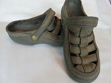 Classic Crocs leather sandals. Mens size 9 Super comfortable foot wear. Brown