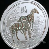 2014 AUSTRALIAN 1/2oz YEAR OF THE HORSE LUNAR .999 SILVER COIN - PREMIUM CAPSULE