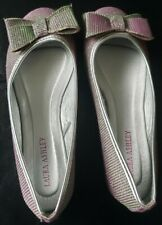 Girls Laura Ashley Silver & Pink Sparkly Dress Shoes/Sz 1