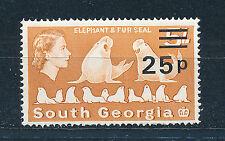 SOUTH GEORGIA 1977 DEFINITIVES SG65 25p on 5s  MNH