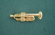 Trompete goldfarben Anstecknadel Hutabzeichen Musik glänzend Kapelle Blasmusik