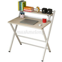 Modern Folding Computer Desk Writing Table 2 Tier Laptop PC Workstation Office