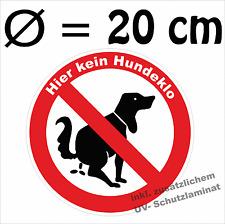 Hier kein Hundeklo, Verbotszeichen, Verbote, 20 cm, inkl. zus. UV-Schutz