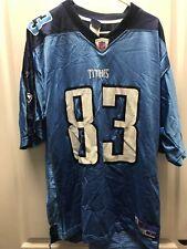 Tennessee Titans Reebok #83 Bennett Blue Football Jersey Size Large