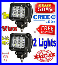 2X 4INCH 18W CREE LED WORK LIGHT BAR SPOT OFFROAD UTE REVERSING TRUCK POD
