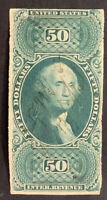 Travelstamps: US Stamps Scott #R101a $50 Internal Revenue Stamp Used NG FAULTS