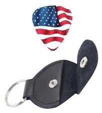 THIN GUITAR PICKS AMERICAN USA FLAG COLORS 0.46mm (10 Pcs) + PICKS HOLDER.