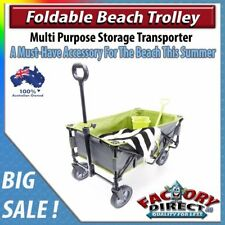 NEW! Foldable Beach Trolley Beach Summer Camping Sports Storage Multi Purpose