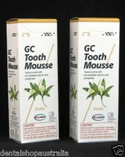 GC Tooth Mousse Vanilla twin pack relieves whitening sensitivity, dry mouth  V2