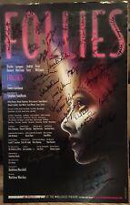 Stephen Sondheim + Cast Signed FOLLIES Broadway Poster Windowcard