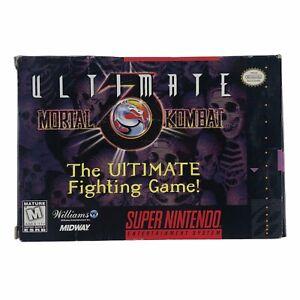 Ultimate Mortal Kombat 3 (Super Nintendo Entertainment System, 1996) w/Box