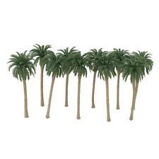 20 Plastic Model Artificial Coconut Palm Trees Rainforest Scenery 1:150 N