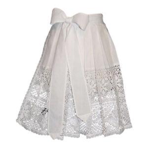 Lace Apron Short White German Hostess Waitress Dirndl Dress XS S M L XL 2XL