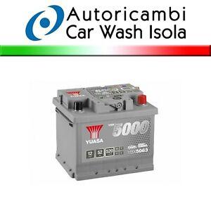 YBX5063 Car Battery 52AH 12V 520A Yuasa Silver YBX5000