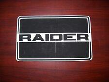 Vintage Raider Twin Track Decal NOS OEM 1707-R-3008