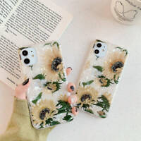 For iPhone 12 Pro Max 11 XR XS 7 8 Plus X Sunflower Soft TPU Silicone Case Cover