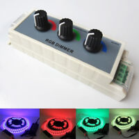 Dimmer Controller Switch 3 Channel for SMD 3528 5050 RGB Led Strip Light 12V-24V