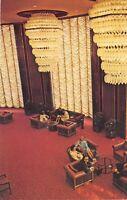 Seattle Washington 1960s Postcard Washington Plaza Hotel Lobby Interior