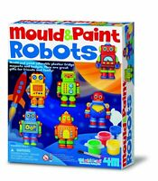 Mould and Paint Robots Plaster of Paris Kit - Robot Magnets Craft for Children