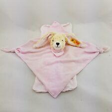Steiff Hoppel Hase in rosa Schmusetuch Kuscheltuch 26cm
