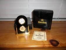 Hamilton ~ Vintage 1970s Small Desk Clock Japan Movement Box