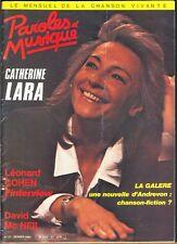 CATHERINE LARA PAROLES ET MUSIQUE numéro 47 FEVRIER 1985 + LEONARD COHEN