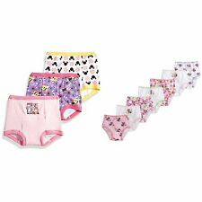Disney Little Girls' 10 Pack Minnie Mouse Training Pant and, Assorted, Size 3T