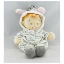 Doudou poupée fillette déguisé en zébre NICOTOY - Poupée - Lutin Classique