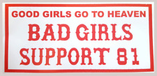 Hells Angels Support Autocollant Good Girls... BAD GIRLS Sticker Vitres Intérieur page
